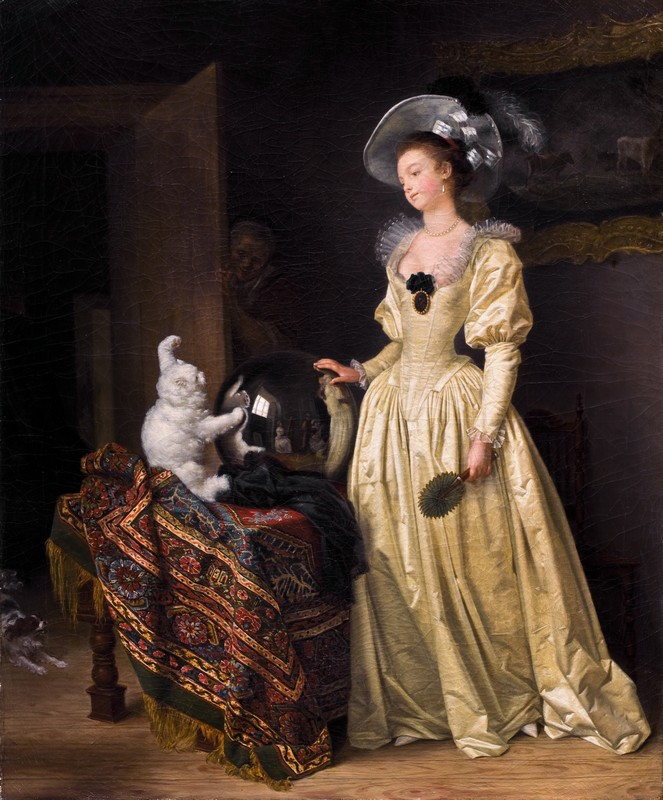 Le chat angora PhotoCredit Britta Schlier su dipinto di Gérard, Marguerite and Fragonard, Jean-Honoré