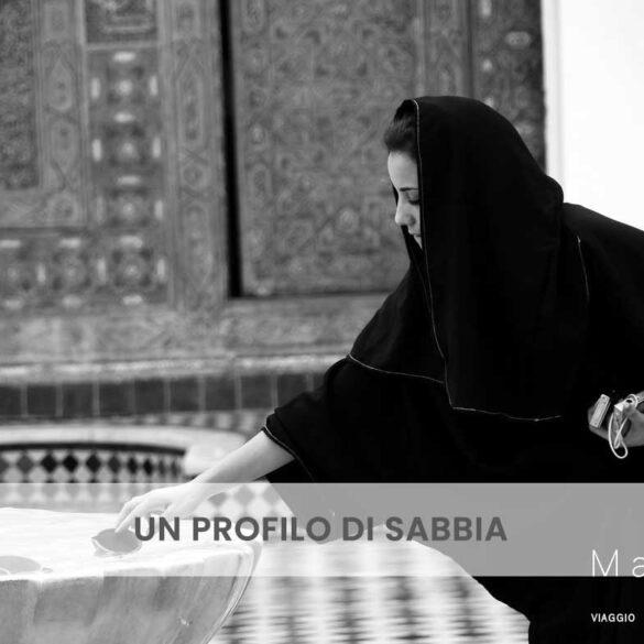 Un profilo di sabbia foto e pensiero di Emanuela Gizzi