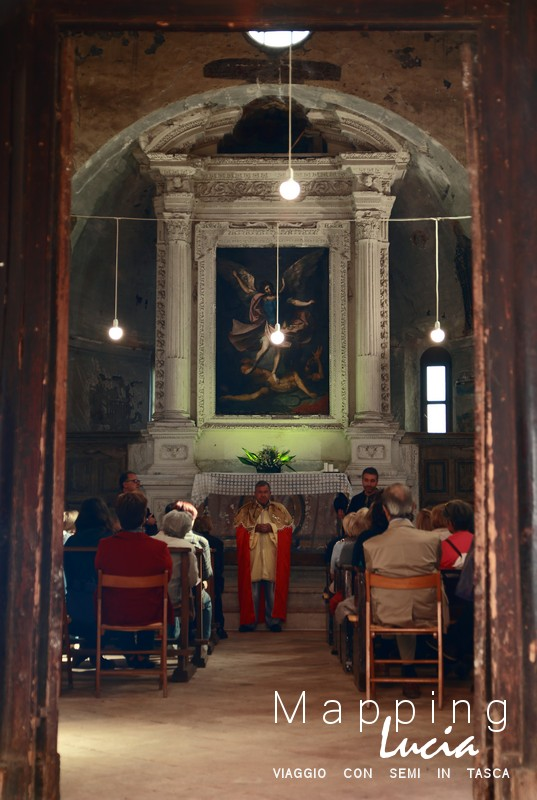 Durante il cammino dell'Arcangelo emanuela gizzi Mapping Lucia11
