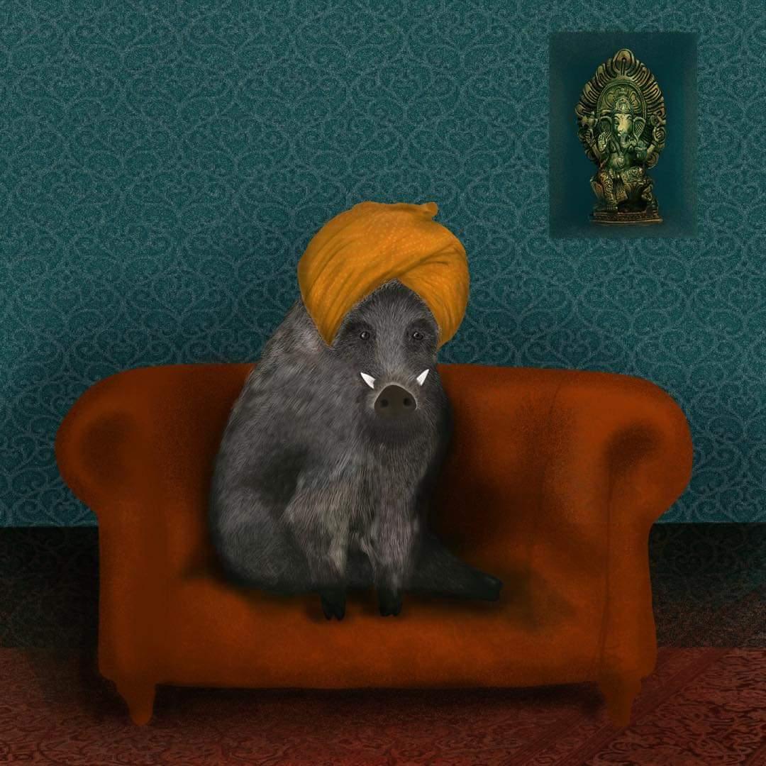 Emanuela Alberino Il Cinghiale di Tinytreeillustration