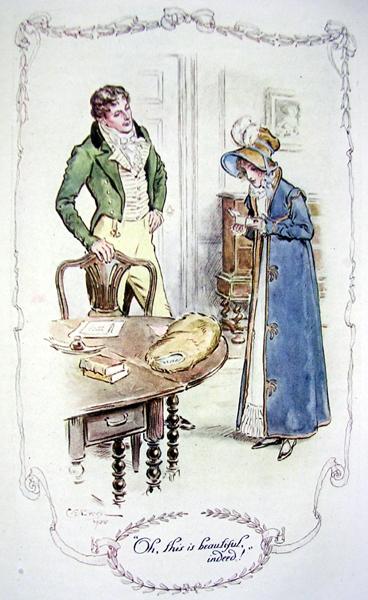 Jane Austen illustration Autore C. E. Brock