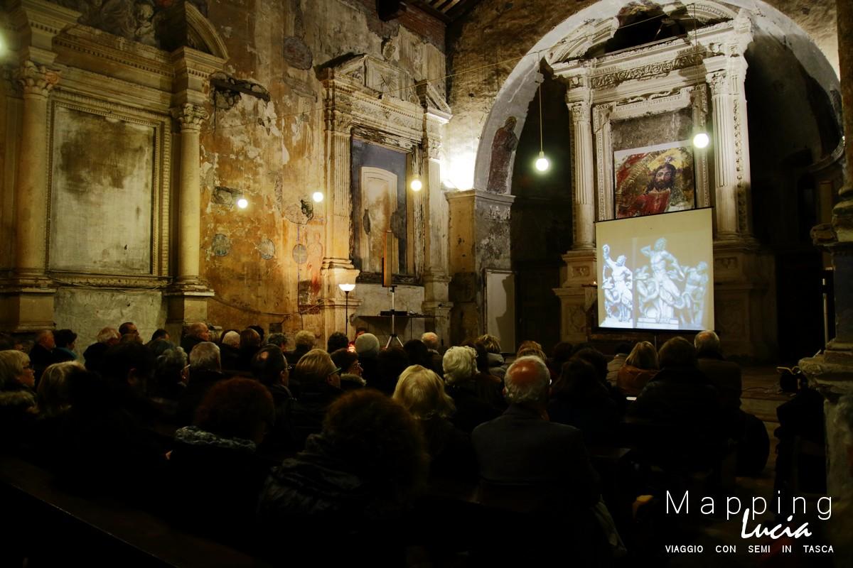 Conferenza sui restauri di san Michele Arcangelo a Formello PhotoCredit Emanuela Gizzi Mapping Lucia