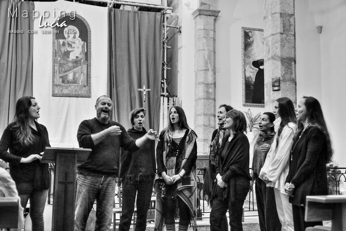 Echi di Bisanzio il coro Pht Emanuela Gizzi Mapping Lucia