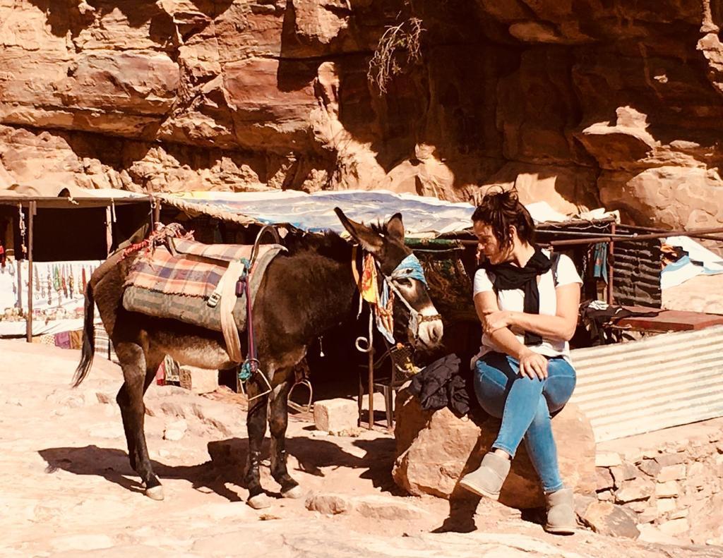 Cristiana e il mulo